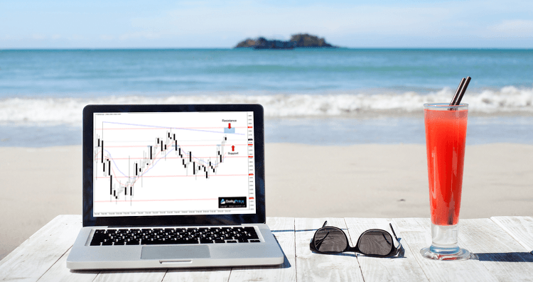 trading on the beach