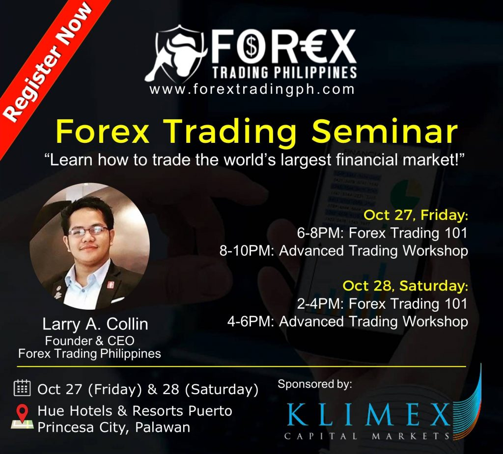 "I am not sold in the idea of forex seminars that are being offered here in the Philippines. I am sure a lot of people would want to trade and learn forex but the majority of seminars here are not that ""cost effective"" with the kind of seminar that you will be attending."